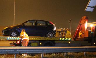 4 december Eenzijdig ongeval op de A20 Vlaardingen