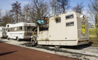28 februari Camper volledig uitgebrand Vlaardingen