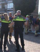 10 juni Brokstukken van balkons vallen naar beneden Frans Halslaan Maassluis