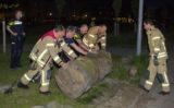 21 mei Zware boomstronk op weg gerold Vlaardingen