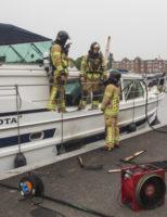 29 mei Brand aan boord van jacht Spangesekade Rotterdam
