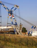 25 augustus Deel Scheveningse pier aangekomen bij slopers Maassluissedijk Vlaardingen