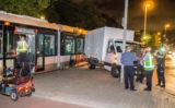 28 augustus Bestelbus geramd door passerende tram Burgemeester van Haarenlaan Schiedam