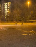 27 december Kerstbomen in brand op skatebaan Lissabonweg Vlaardingen