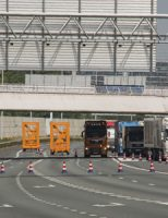 15 juni A4 deels dicht na botsing vrachtwagens Vlaardingen
