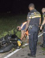 14 augustus Motorrijder beland in sloot Harreweg Schiedam