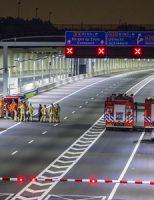 5 september Ketheltunnel A4 dicht voor brandweeroefening Schiedam