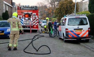 22 november Bewoners op straat na gaslucht Kievitslaan Schiedam