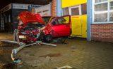 15 december eel schade na flinke aanrijding Kommiezenlaan Schiedam