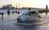17 januari Kades door hoge waterstand wederom onder water Vlaardingse Haven