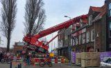 20 februari Hijskraan valt op dak studentenvereniging Infirmeriestraat Rotterdam