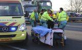 22 februari Motorrijder gewond bij aanrijding A20 Schiedam