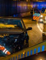 9 maart Bestuurder spoorloos na aanrijding A20 Schiedam