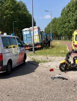 5 juni Scooterrijder onderuit na aanrijding Matlingeweg Rotterdam