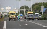 16 juni A20 afgesloten bij afrit na meerdere aanrijdingen Schiedam