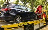 16 juli Auto knalt op rimob na aanrijding A4 Schiedam