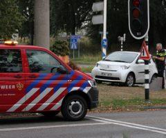 12 augustus Auto botst tegen brandweerwagen met spoed Holysingel Vlaardingen