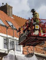 8 april Brand op dak na werkzaamheden Schiedam