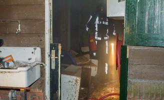 16 oktober Brandje in voormalige kinderboerderij Schiedam