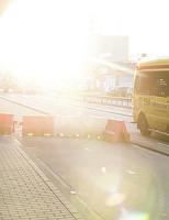 22 februari Scooter botst tegen afzetblokken Rotterdam