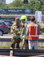 25 mei Flinke aanrijding op snelweg A16 Rotterdam
