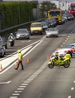 13 april A20 dicht na ongeval Rotterdam