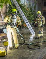 18 september Brandweer rukt uit voor brand tegen pand Maasboulevard Vlaaridngen