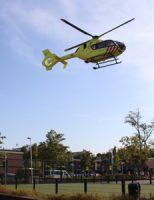 6 augustus Traumahelikopter voor medische noodsituatie Baarnhoeve Vlaardingen