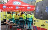21 november Ambulancepersoneel voert actie Markthal Rotterdam