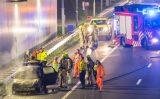 12 januari Auto uitgebrand op de A4 Schiedam