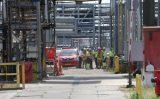 23 juni Schip ramt steiger, 300 ton olie in het water Oude Maasweg Rotterdam