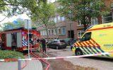 20 augustus Grote brand op dak van woning Baljuwstraat Rotterdam