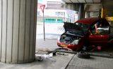 23 september Auto tegen pijler A20 tot stilstand Giessenweg Rotterdam