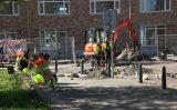 27 september Hoofdgasleiding kapot bij graafwerkzaamheden Nicolaas Beetsstraat Rotterdam