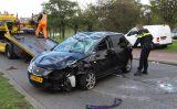1 oktober Auto over de kop na ongeval Horvathweg Rotterdam