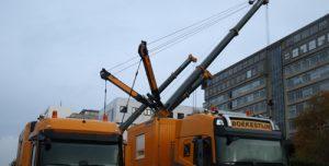 13 november Berging van omgevallen bouwkraan begonnen oude Erasmus MC Rotterdam