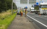 27 juni Auto van de weg na ongeval A20 Vlaardingen