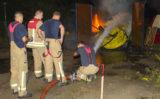 28 augustus Flinke blusklus voor de brandweer Zwanensingel Vlaardingen