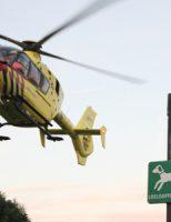 10 juni Traumahelikopter voor allergische aanval Burgemeester Honnerlage Gretelaan Schiedam