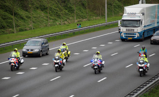 22 april Langzaamaan actie politie op snelwegen in het land