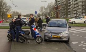19 februari Opnieuw aanrijding op rotonde Schiedam