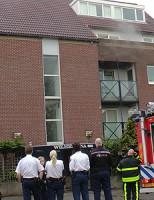Afzuigkap in brand Noordeinde