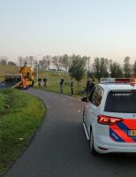 15 oktober Auto rijdt van talud na aanrijding Reeuwijkse Randweg Reeuwijk