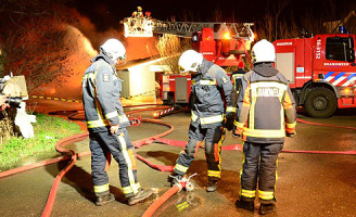 3 januari Brand in opslagloods Zevenhuizen